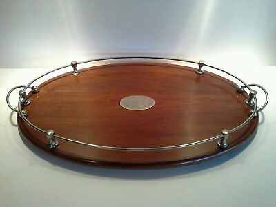 Large Antique Art Deco Eliptical Serving Tray