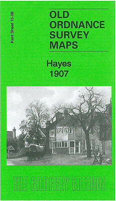 Old Ordnance Survey Map Hayes 1907 Pickhurst Green West Wickham Langley Park