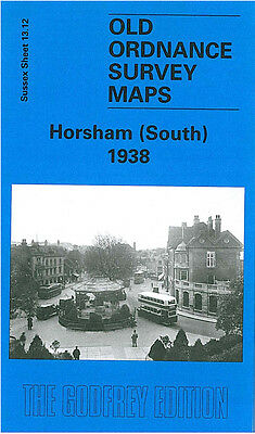 Old Ordnance Survey Map Horsham South 1938 Bishopric Carfax Oakhill Brighton Rd