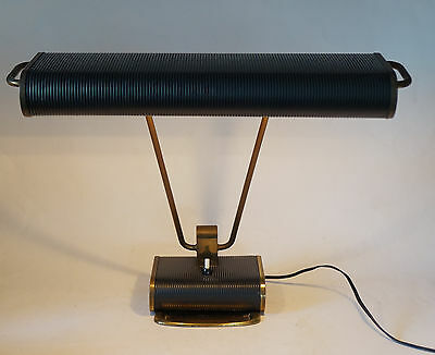 Orig. ART DECO Lampe Desk Lamp Tischlampe Eileen Gray JUMO brass black messing