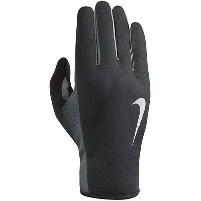 New Mens Nike Running Gloves 2.0 Black/Anthracite/Silver sizes S-XL RRP £18