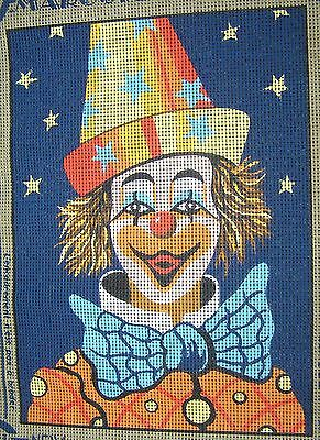 Margot Colour Printed Tapestry Canvas Smiling Clown Bow Tie Hat Happy 29cms New