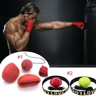 Boxing Punch Exercise Fight Ball W/Head Band For Reflex Speed Training AU POST