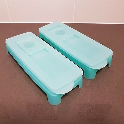 Tupperware Cool Cubes Ice Cube Tray with Silicone Base - Set 2  - New
