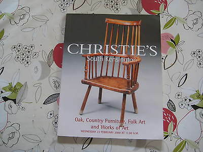 Christies Catalogue Oak, Country Furniture & Works Of Art Lon Feb00