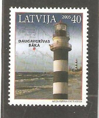 2005   Latvia  - Sg  647  -  Daugavgrivas Lighthouse  - Umm