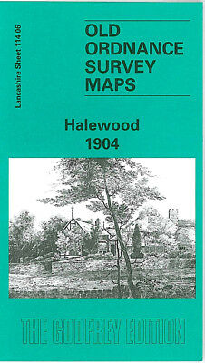 Old Ordnance Survey Map Halewood 1904 Liverpool The Hayes Lyons House North End