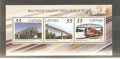 2012   Latvia - Railway Bridges - Sg Ms 842 - Unmounted Mint