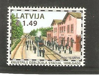 2016   Latvia  -  Krustpils Railway Station - Umm