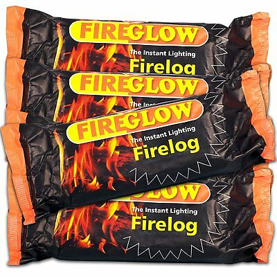 15 x Fire glow The Instant Lighting Firelog Burns up to 2 Hours Fire Logs Wood