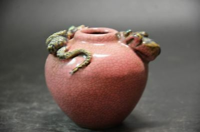 chinese crackle porcelain water pot jar
