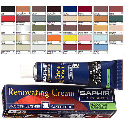Cream Saphir For Covering Scratches And Cracking On Sofas Interior Car Leather