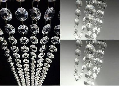 Ceiling Light Chandeliers Drops Droplets Hanging Acrylic Crystal Lamp Shade 20FT