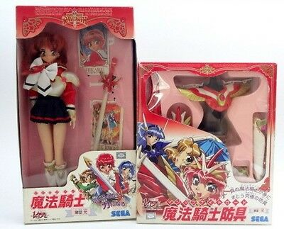 Rare Magic Knight Rayearth Hikaru Doll Figure And Protectors Set Japan Import