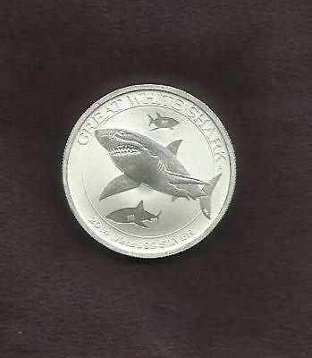 1/2 OZ Silver 9999 - GREAT WHITE 2014  - RARE -1 of 3  - SEE THE OTHERS
