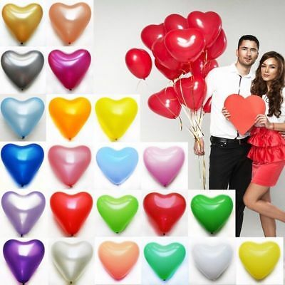LARGE HEART SHAPE BALLOONS HELIUM wedding birthday party FUNERAL BIODEGRADABLE