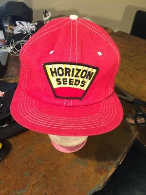 Vintage Horizon Seed Embroidered Patch Farm Snap Back Hat Cap  by  K-Brand USA