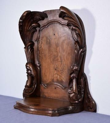 *Antique French Renaissance Revival Niche in Solid Walnut and Chestnut Wood