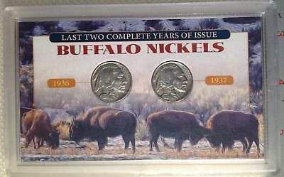 First Commemorative Mint: Last 2 Complete Years Issue Buffalo Nickels 1936 1937