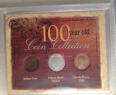 First Commemorative Mint: 100 Year Old Coin Collection Indian, Liberty & Lincoln