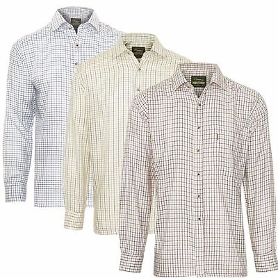 Champion Country Check Long Sleeve Tattersall Shirts Farming Fishing Shooting