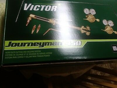 0384-0807 Victor Journeyman 450 Torch Kit Set With Regulators CA2460 315FC SR450
