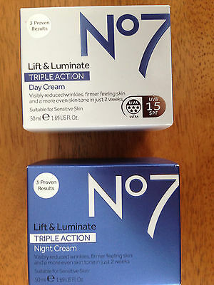 Boots No 7 Lift and Luminate Triple Action Day Cream & Night Cream
