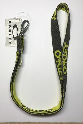 NWT Oakley Factory Lanyard Shadow yellow/gray ID Neck Cord Badge Holder Sunglass