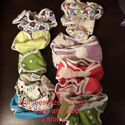 Huge Cloth Diaper Lot w/ prefolds, pail liners, inserts, covers, Aio & more