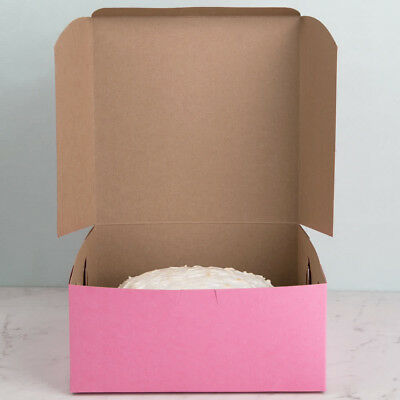 10 count PINK 9x9x4 Bakery, Pie, Cake Box