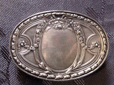 Solid Silver Very Nice Box For Pills Punch Minerve