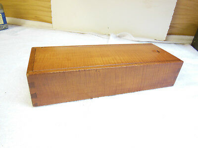 Tiger Maple Candle Box