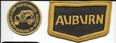 3  Vintage Unused 1980's Auburn Cord Duesenburg Patches