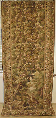 Spectacular Antique French Long Tapestry Chateau Portiere / Curtain / Hanging