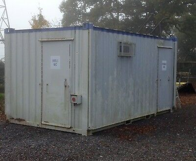 """15ft 8"""" x 9ft 3 &1 Anti Vandal Male/Female Toilet Block Container With Jack Legs"""