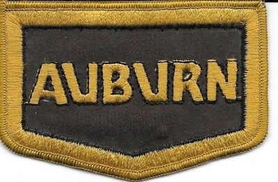 2  Vintage Unused 1980's Auburn and Duesenburg Patches