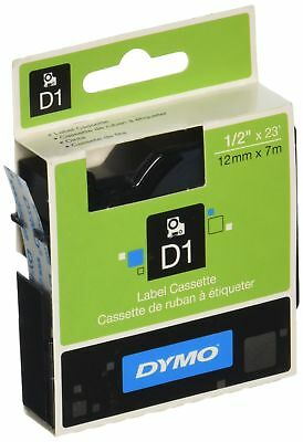 DYMO Standard D1 45010 Labeling Tape ( Black Print on Clear Tape  1/2'' W x 2...