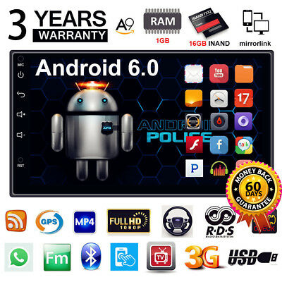 "Quad Core Android 6.0 3G WIFI 7"" Double 2DIN Car Radio Stereo MP5 GPS Player"
