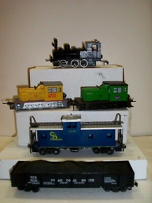 Atlas 2 Rail O Scale Locomotive Lot   Reading  Up  Switcher    Pola At&sf 0-6-0