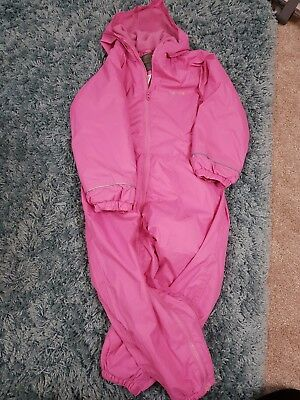 regatta girls 4-5 years all in one insulted snow suit pink