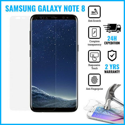 Screen Protector 9H LCD Protecteur Real Tempered Glass Film For Galaxy Note 8