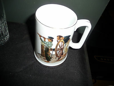 "Norman Rockwell Nautical Theme Mug ""RIVER PILOT"" Excellent Condition"