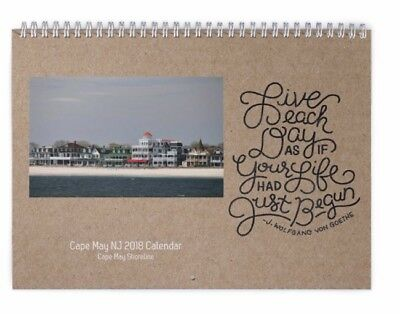 2018 Cape May Nj Calendar 11 X 17 New Picture And Positive Saying