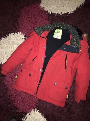 Next Boys Padded Winter Coat Age 6 Red