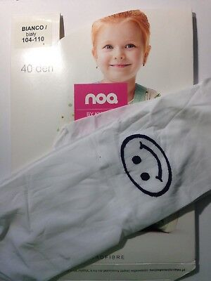 NOQ -GIRLS PATTERNED TIGHTS-40 DEN - (Age 3-4) - SMILEY
