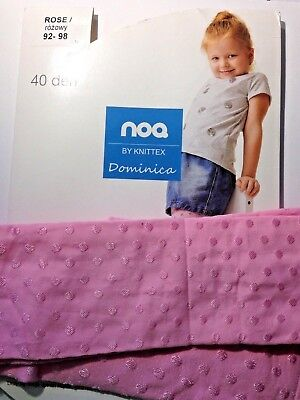 NOQ -GIRLS PATTERNED TIGHTS-40 DEN - (Age 2-3)