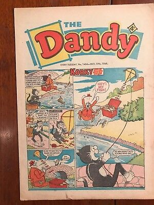 Vintage Dandy Comic No 1404  Oct 19th 1968 very good condition Ref051