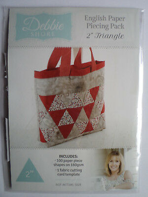 "Debbie Shore English Paper Piecing Pack 2"" Triangle"