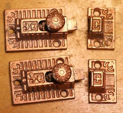 Pair Vintage Cabinet Latches