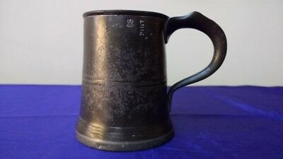 Early 19th Century Pint Pewter Tankard (Villers & Wilks)